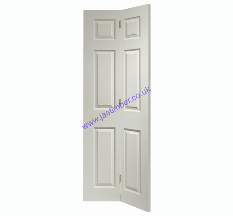 Colonist 6-Panel Bi-Fold White Moulded Internal Door