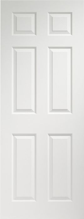 Colonist 6-Panel Pre-Finished White Moulded Internal Door