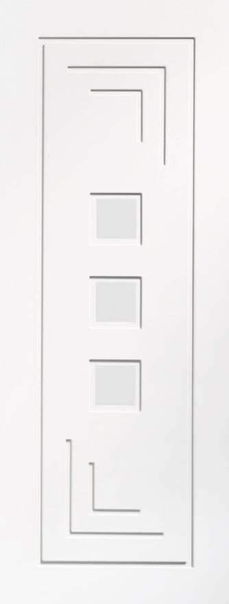 Altino 3-light Glazed White Primed Internal Door