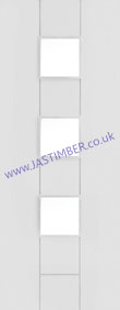 Messina 3-light Clear Glazed White Primed Door