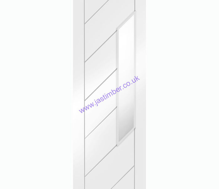 Monza 1-light Obscure Glazed White Primed Door