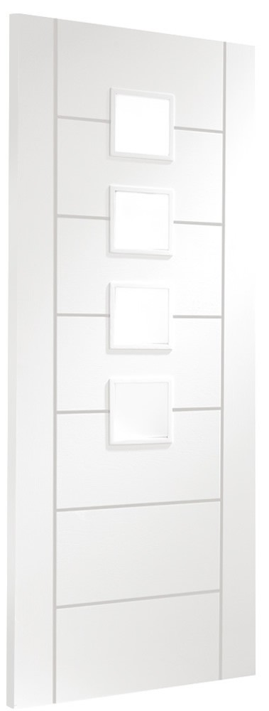 Palermo Glazed White Primed Internal Door