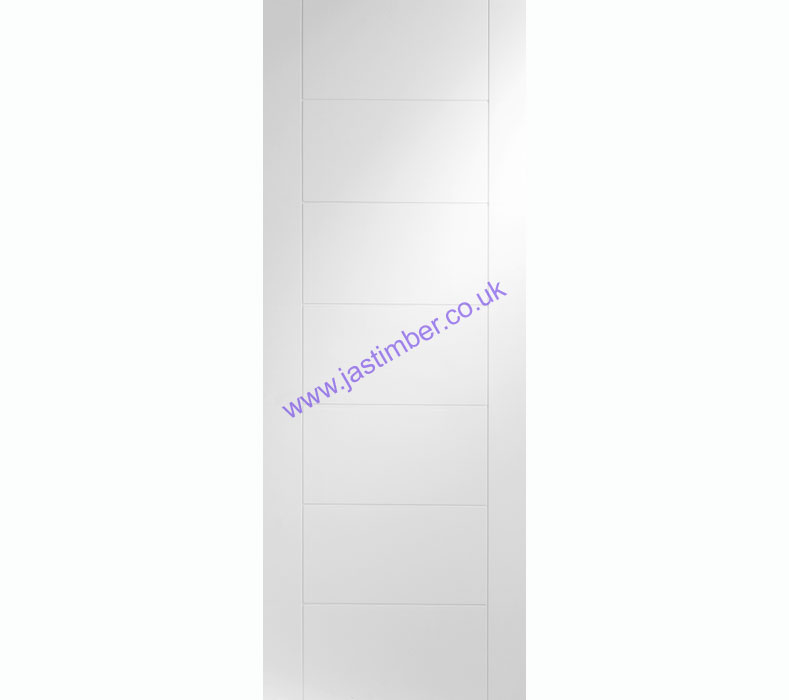 Palermo Flush White Primed Internal Door - XL Joinery
