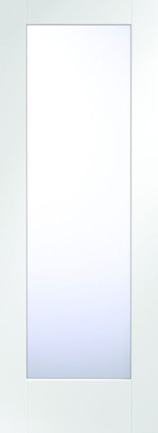 Pattern 10 Glazed Fire Door: FD30 1-light *Clear Glass* White Primed 44mm Internal Fire Door - XL Doors