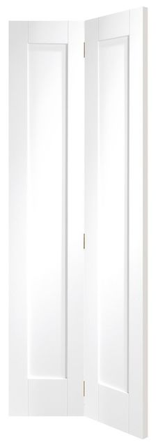 PATTERN 10 Bi-Fold DOOR: 2-Panel White Primed 35mm Internal Bi-Folding Door - XL Doors