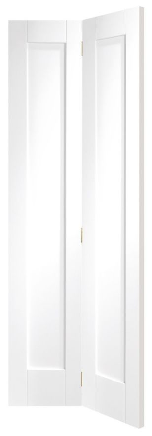 XL Pattern 10 White Primed 35mm 2-Panel BiFold Door