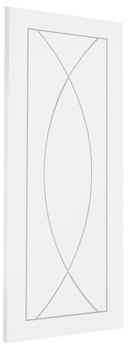 Pesaro V-Groove White-Primed Door
