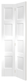 Shaker Bi-Fold 8-panel White Primed Internal Door - XL Joinery