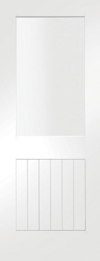 Suffolk 1-Light Glazed White Primed Door
