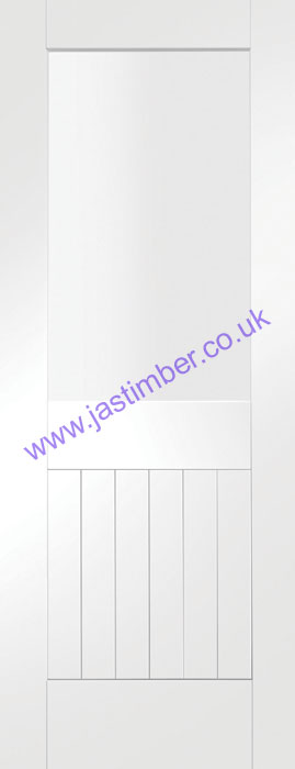 Suffolk 1-light Glazed White Primed Internal Door