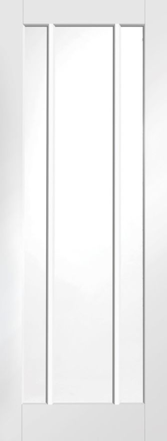 XL Worcester 3-L Clear-Glass White Primed 35mm Int. Door