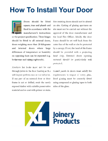 XL Joinery - How to Install Your Door