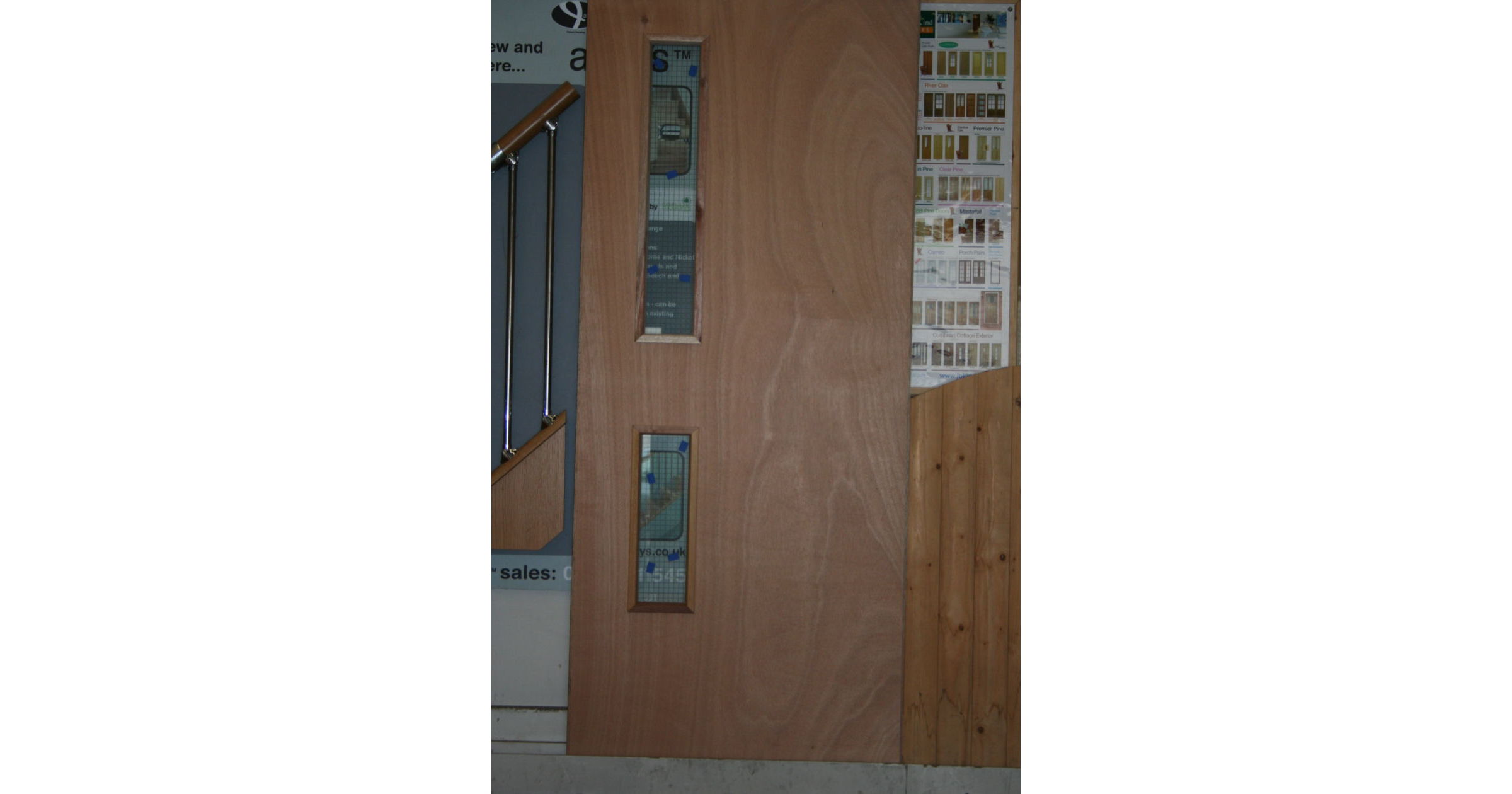 JBK FD30 Ext. Ply 16G Wired Glass DDU Fire Door; Image 1580