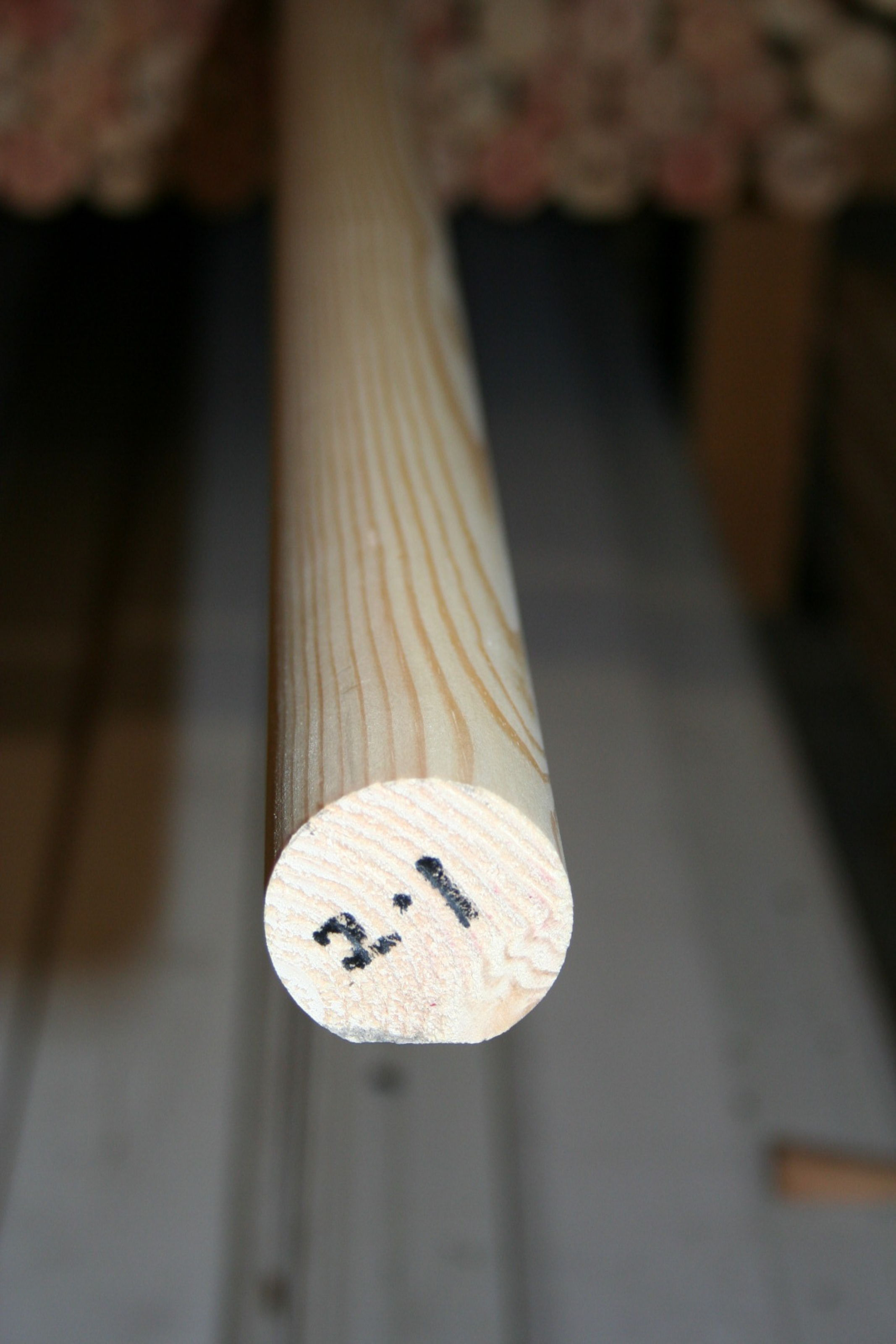 50mm Mopstick Softwood Handrail - length; Img 6557