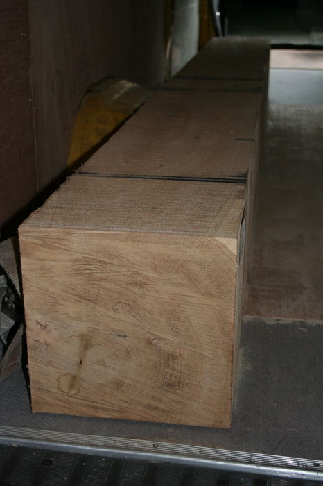 250x250mm Green Oak Building Timber Post; Image 8201