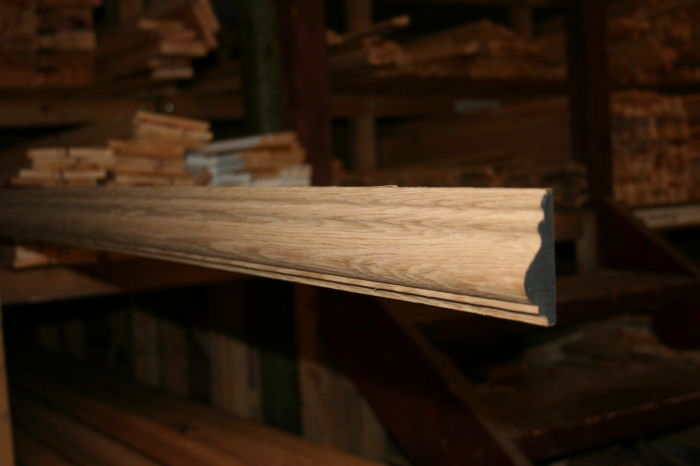 75mm Oak Dado Rail - length; Image 7222