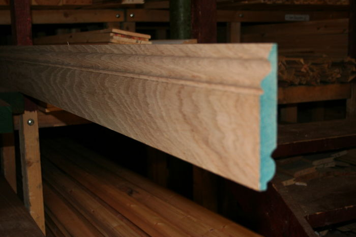 IMG 7250 6 inch Oak Ogee Skirting;