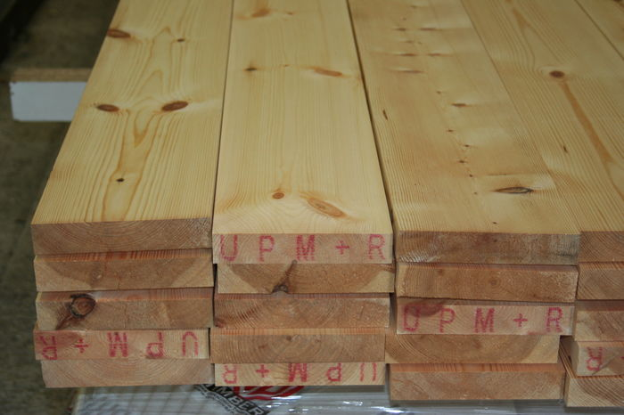 225mm x 38mm Scandinavian Planed Softwood Boards; Image 9205