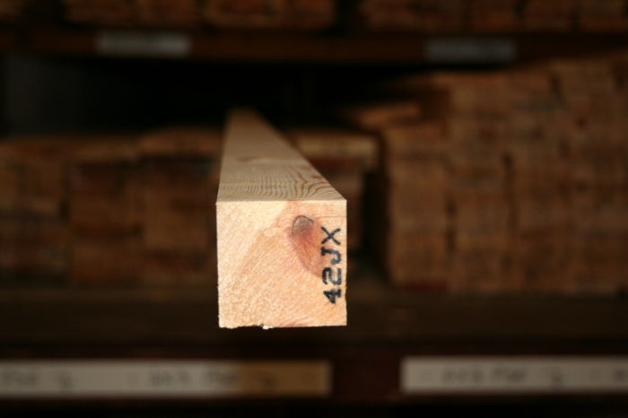 1.5x1.5 inch Planed Softwood - Square end section; Image 7325