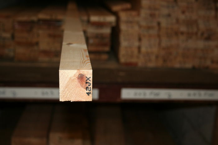 38x38mm Planed Softwood - Square end section; Image 7321
