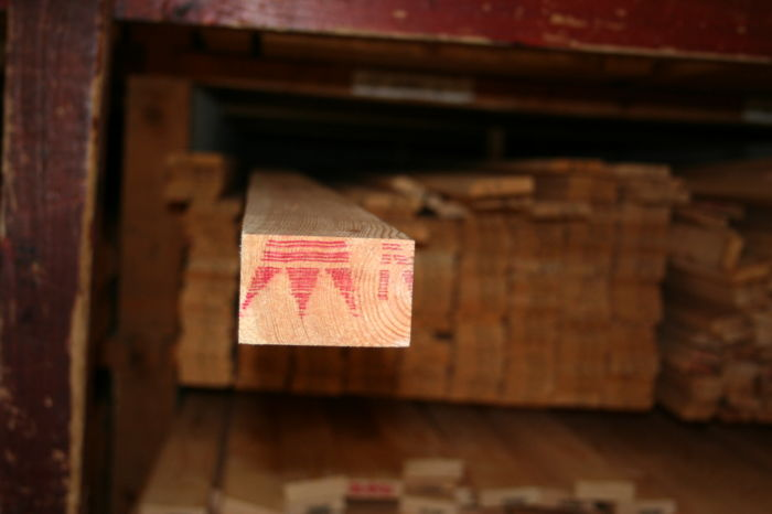 3 x 2 inch Planed Softwood - end section; Img 7311