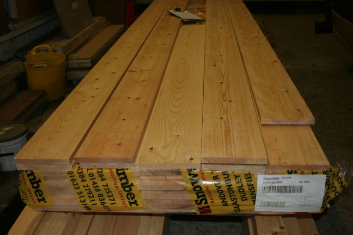 IMG 9147 9x1 Scandinavian Planed Softwood ex 25mm wide-boards;
