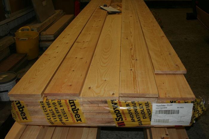 9x1 Planed Softwood ex 25mm x 225mm Board; Image 9147