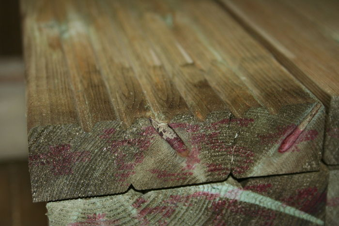 Softwood Garden Decking - End Section; Image 3056
