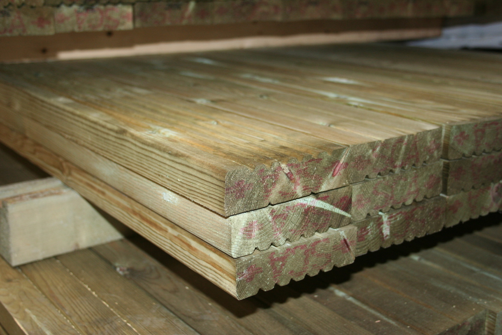 SCA Green Treated Softwood Decking; Image 3051