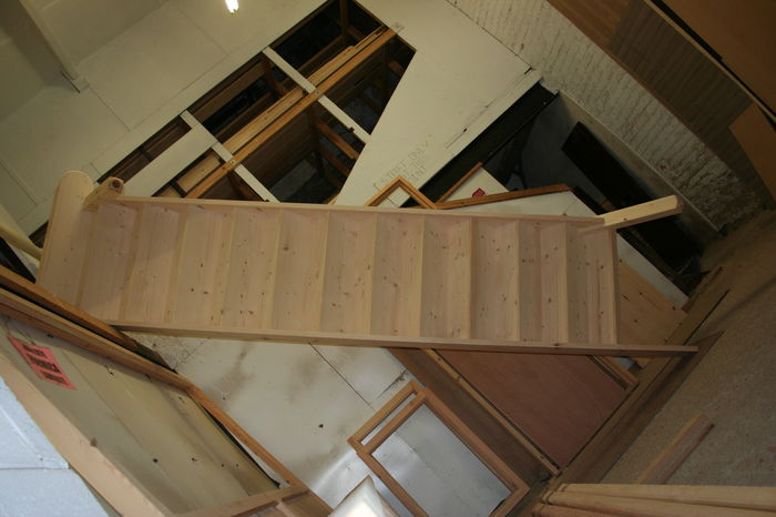 Stairs with Full Curtail bottom Step with Newel 9453