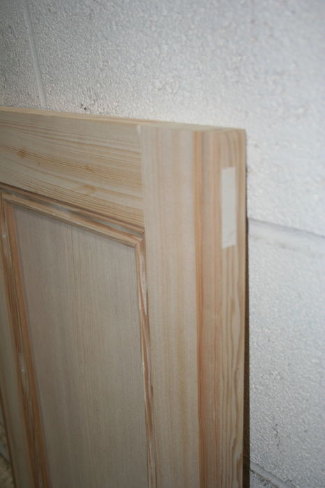 Pine Cabinet Door with M&T joints and Flat-Panel - made to size; IMG 3775