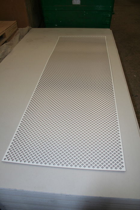 IMG 7748 Diamond Pattern White-Primed MDF Radiator Screen;