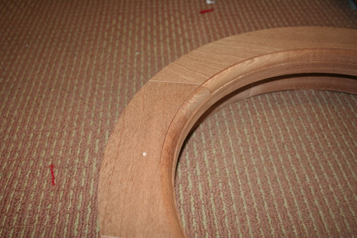 IMG 7941 Jointed Hardwood Round Window-Frame;
