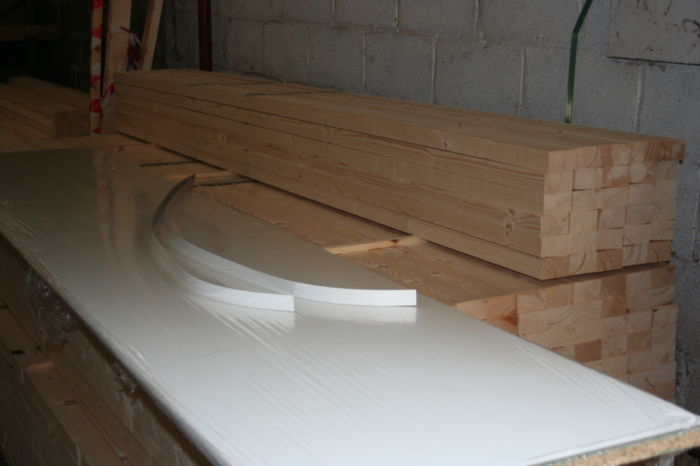 IMG 7782 Bedroom Worktop - 22mm thick - Nosed front - Edging Tape for ends;