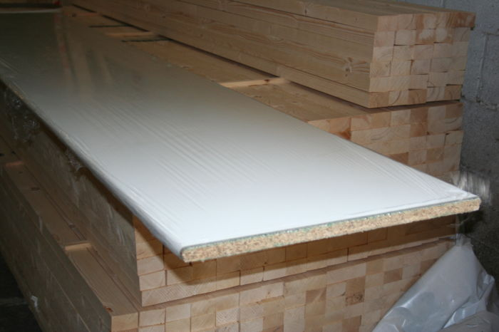 White Bedroom Worktop - 22mm Nosed Edge; Image 7780
