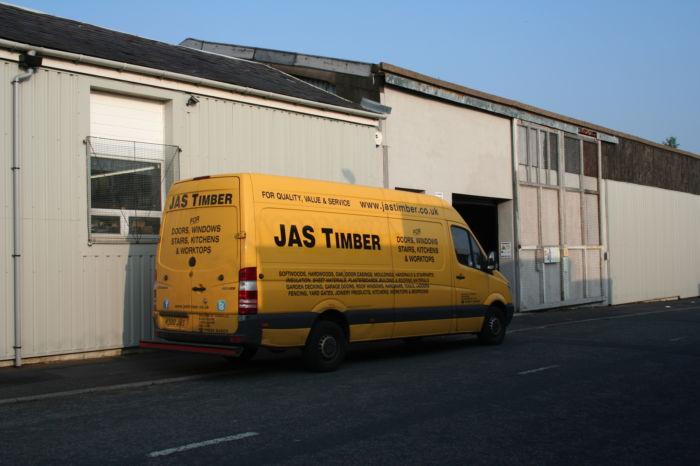 JAS Timber covered van delivery to the North-West; Image 931221