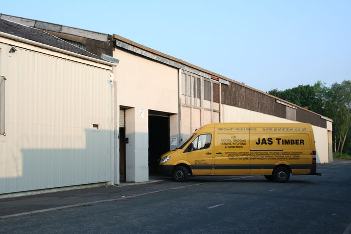 JAS Timber Building with JAS Delivery Van; Image 9312