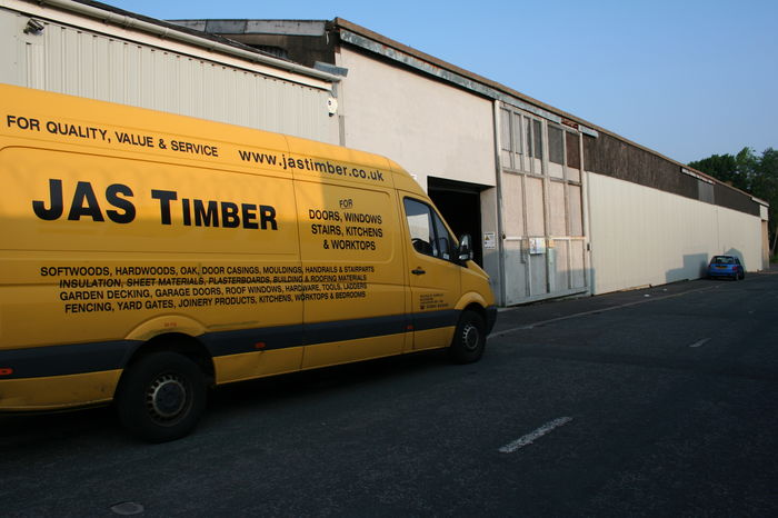 JAS Timber - Building and Van; Image 9312.25