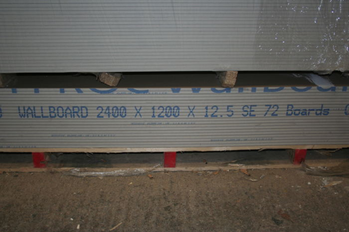 Plasterboard Delivery - a new pack of SE Wallboard; IMG 3794