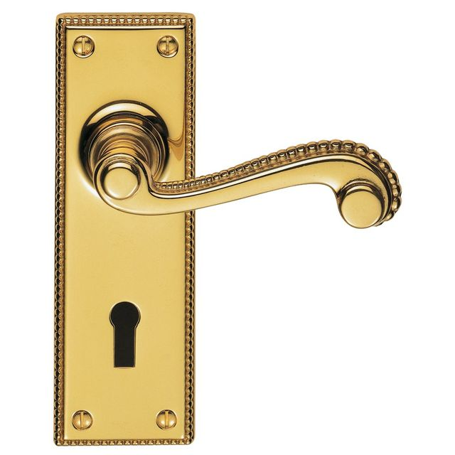 St James Lever Lock Door Handle 155x51mm - DL100