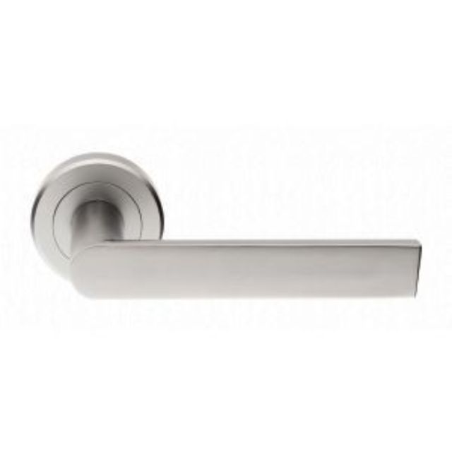 SZM210 Serozzetta Edge Lever Door Handle on 50mm Rose