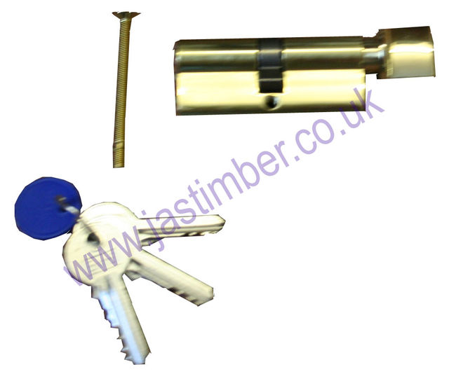 EURO Cylinder with Thumbturn 70mm CYA71370 BRASS or SATIN CHROME E*S