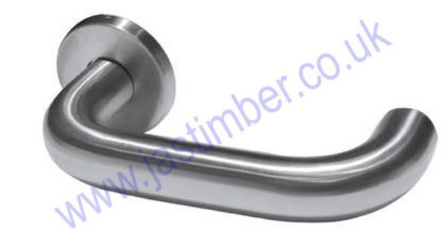Frelan ORBIT 19mm Lever Door Handles on 52mm Round Rose JSS13 & JPS13