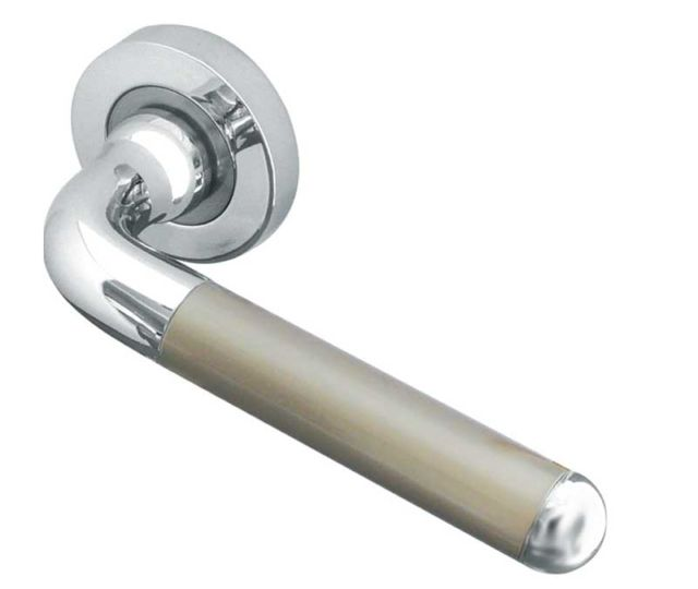 Frelan Olivia Lever Door Handle on 50mm Round Rose JV466PCSN