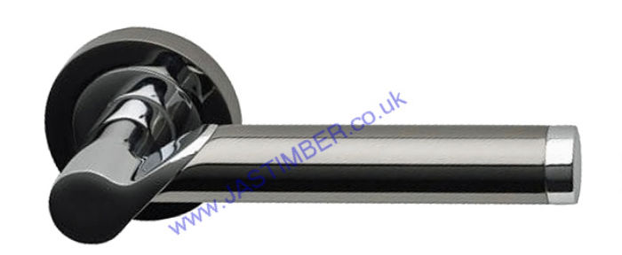 Enterprise Dual Black-Nickel-Door Handle