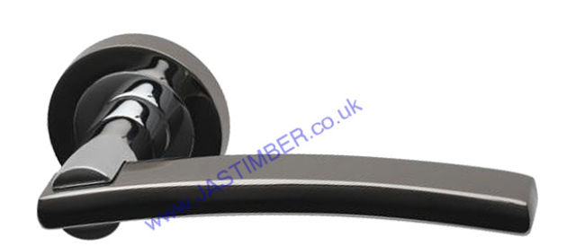 Intelligent® Opal Black-Nickel/Chrome Finish Door Handles : OPA.09.PCP/BNP