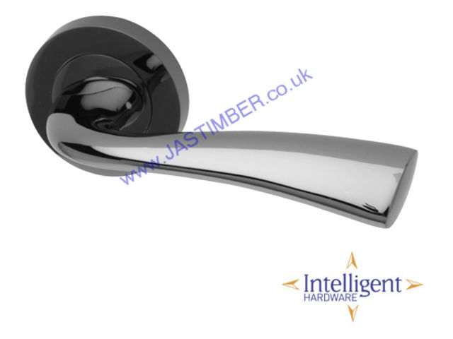 Intelligent® Scimitar Black-Nickel Finish Door Handles : SCI.09.BNP