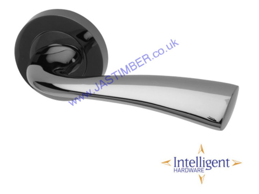 Scimitar Black-Nickel Door Handles