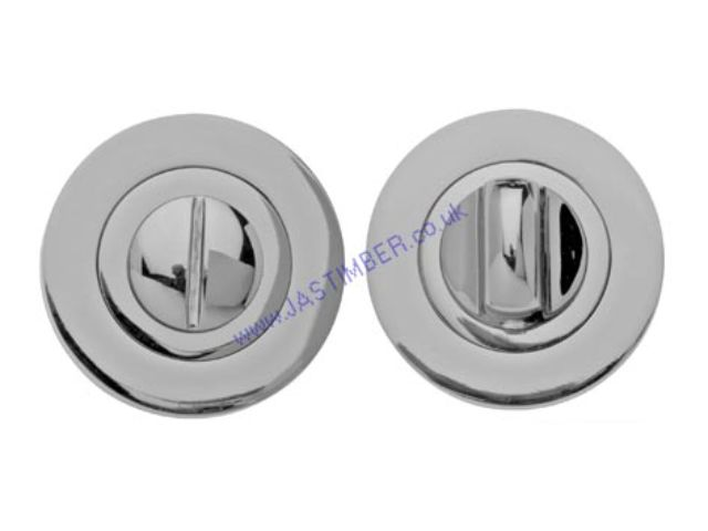 Intelligent Dual Finish Bathroom Thumbturn & Release for Bathroom Lock : Finish to Match