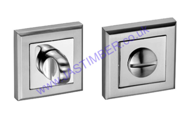 Intelligent Square Thumbturn & Release for Bathroom Lock : Finish to Match